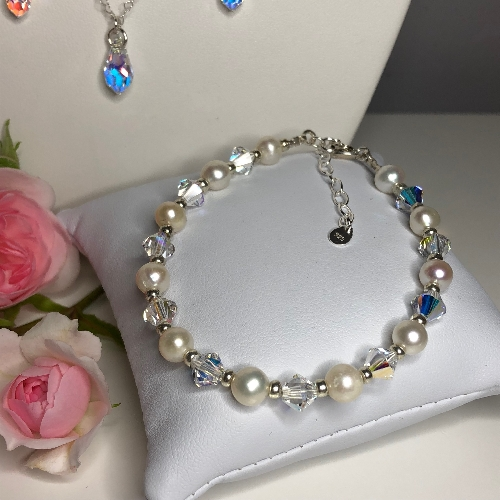 Freshwater Pearl Bracelet - Diane | SilverTales | Hand Crafted Jewellery