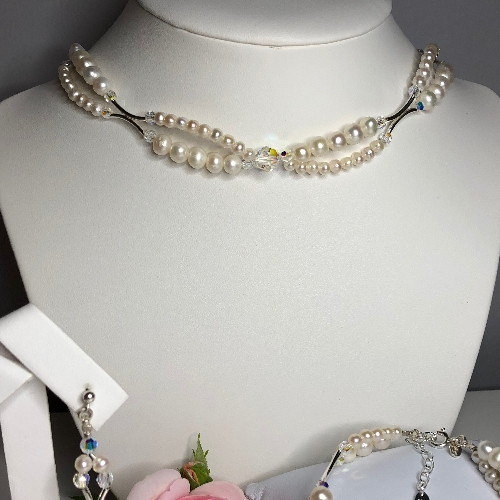 Freshwater Pearl Choker Necklace - Olivia | SilverTales | Hand Crafted Jewellery