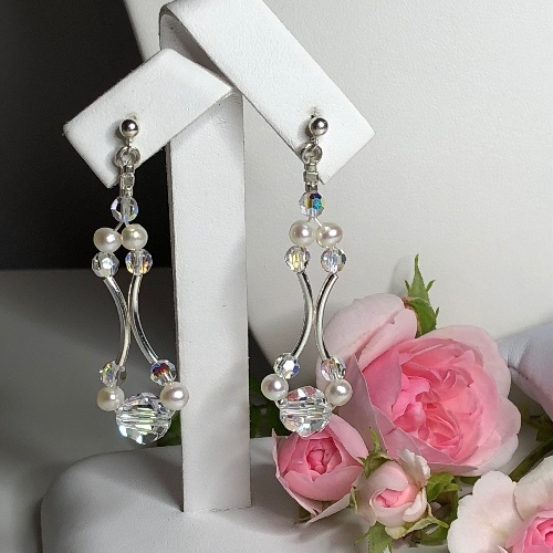 Freshwater Pearl Earrings - Olivia | SilverTales | Hand Crafted Jewellery