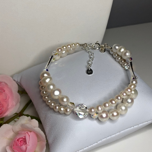 Freshwater Pearl Bracelet - Olivia | SilverTales | Hand Crafted Jewellery