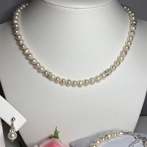 Freshwater Pearl Necklace - Sofia | SilverTales | Hand Crafted Jewellery