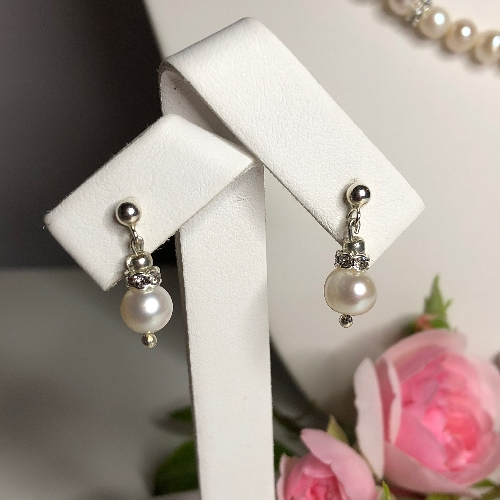 Freshwater Pearl Earrings - Sofia | SilverTales | Hand Crafted Jewellery