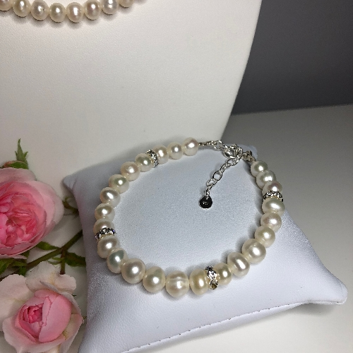 Freshwater Pearl Bracelet - Sofia | SilverTales | Hand Crafted Jewellery