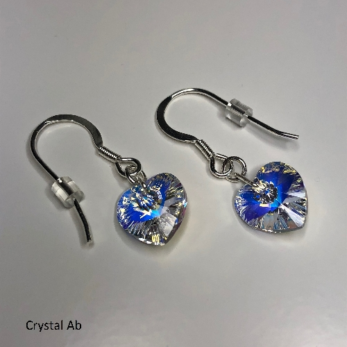 Swarovski Ab Heart Earrings | SilverTales | Hand Crafted Jewellery