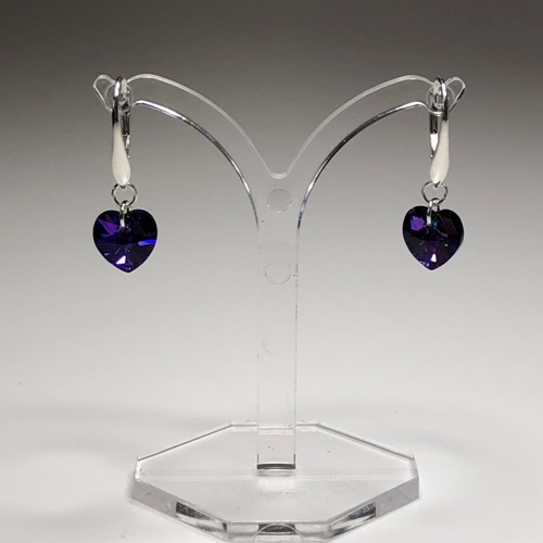 Swarovski Crystal Heart Earrings | SilverTales | Hand Crafted Jewellery