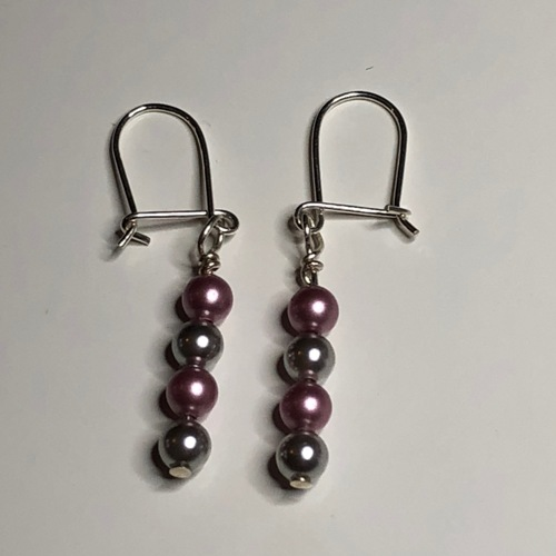 Just The Pearls Earrings | SilverTales | Hand Crafted Jewellery