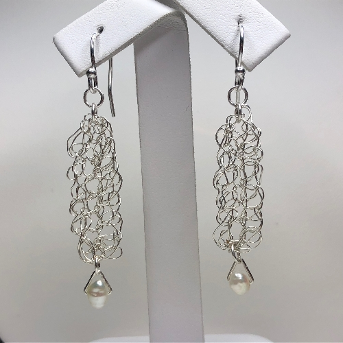 Silver Long Crochet  | SilverTales | Hand Crafted Jewellery