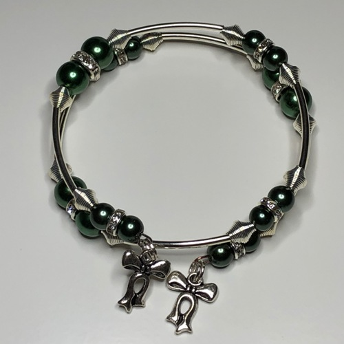 Olive Green Coil Bracelet | SilverTales | Hand Crafted Jewellery