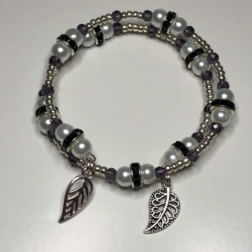 Black & White Coil Bracelet | SilverTales | Hand Crafted Jewellery