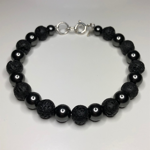 Black Pearl - Lava Rock  | SilverTales | Hand Crafted Jewellery