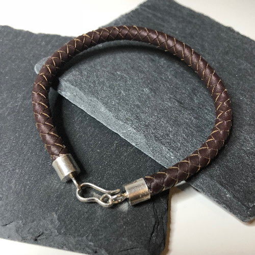 Leather Braid  | SilverTales | Hand Crafted Jewellery