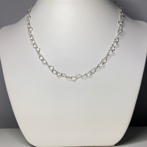 Sterling Silver Big Hearts Link Chain | SilverTales | Hand Crafted Jewellery