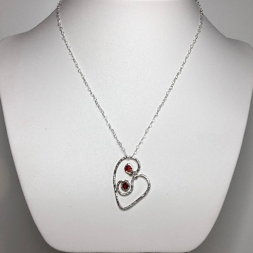 Heart with Swarovski Crystals  | SilverTales | Hand Crafted Jewellery