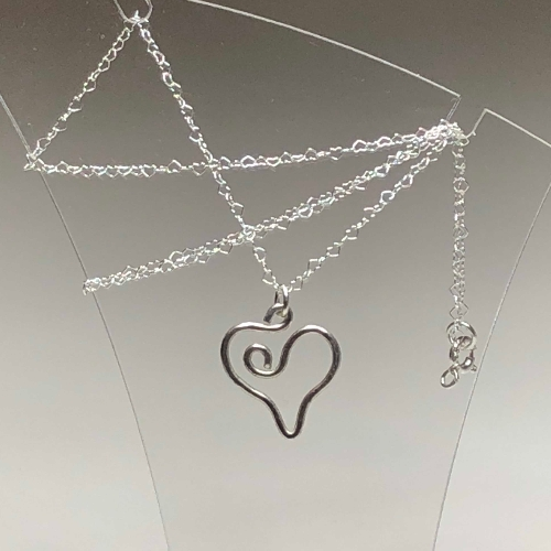Sterling Silver Heart Pendant  | SilverTales | Hand Crafted Jewellery