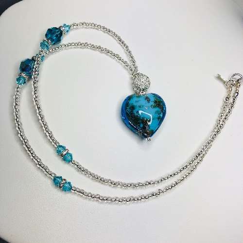 Murano Heart  | SilverTales | Hand Crafted Jewellery