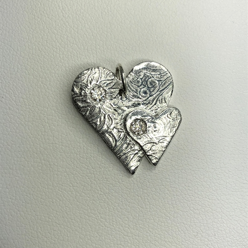 Fine Silver Hearts Pendant - One of a kind | SilverTales | Hand Crafted Jewellery