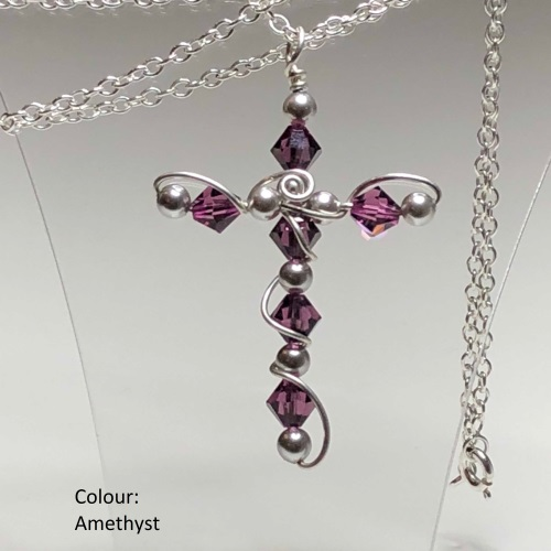 Silver Swarovski Cross | SilverTales | Hand Crafted Jewellery