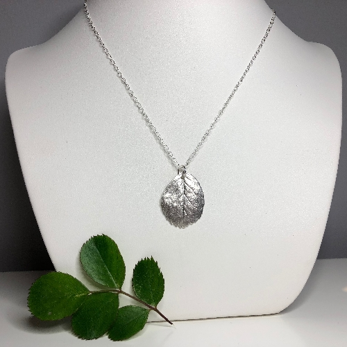 Rose Leaf Pendant  | SilverTales | Hand Crafted Jewellery